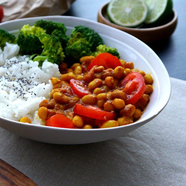 Curry Rouge de Haricots Blancs