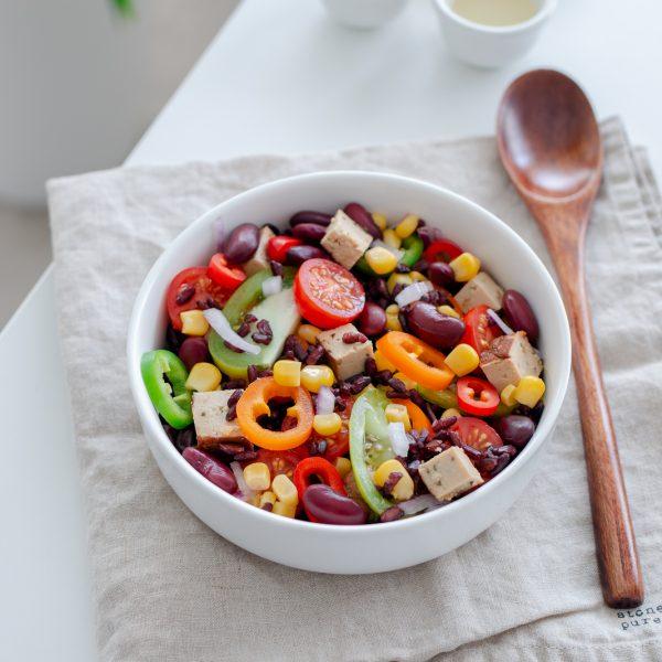Salade d'été inspiration cajun